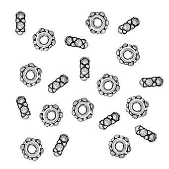 TierraCast Fine Argento Placcato Peltro Piccole perline distanziale turche 4mm (20)