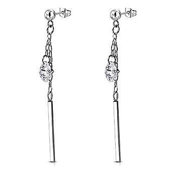 Autiga - STAINLESS steel pin earrings with cubic zirconia crystals, women's and stainless steel, color: Zirkonia Ref. 4058433405110