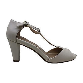 Giani Bernini Womens claraa Leather Peep Toe Casual Ankle Strap Sandals