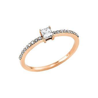 טבעת סוליטייר פרומסה יצירה לונה עם שוליים צדדיים 1V501R852-1 - רוחב טבעת: 52.5