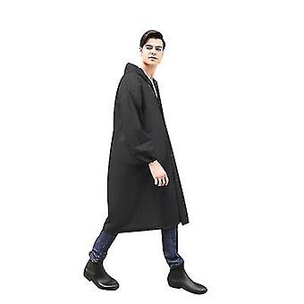 Pelerina de ploaie reutilizabila alba cu gluga pentru adulti. Paltoane impermeabile si respirabile pentru drumetii x2454