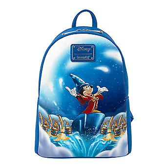 Disney Mini Backpack Fantasia Sorcerer Mickey Mouse new Official Loungefly Blue