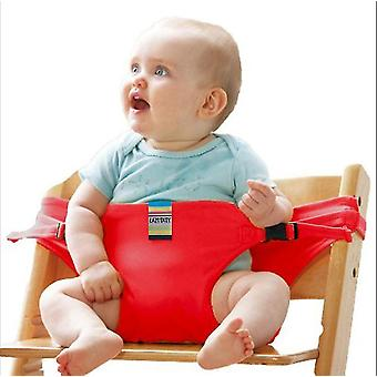 Czerwony fotel bezpieczeństwa fotel dla niemowląt jadalnia przenośny pasek x5157