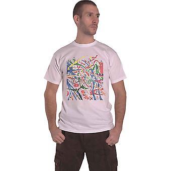 Vaaleanpunainen Floyd T-paita Pollock Prism Band Logo uusi virallinen Mens White