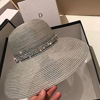 Τα καλοκαιρινά πτυσσόμενα καπέλα της μαύρης κυρίας για διαφανή καπέλα παραλίας καλύμματα καπέλο uv για ταξίδι fa0510