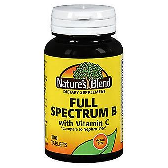 Nature's Blend Nature's Blend Full Spectrum B with Vitamin C, 100 Tabs