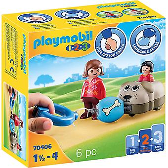 Playmobil 1.2.3 70406 Dog Train Car For 18+ Months