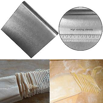 Stainless Steel Pizza Dough Scraper Cutter Kitchen Flour Pastry Cake Tool