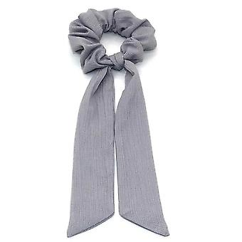 Polka Dot/floral Printed Ribbon Bow, Scrunchies Women Elastic Hair Band