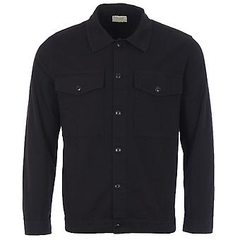 Nudie Jeans Co Colin Organic Cotton Canvas Overshirt - Black