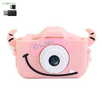 Lasten digitaalikamera 1080p hd2.0 tuumaa värinäyttö dual selfie videopeli lapset kamera 600mah akku lelu lahjat lapsille