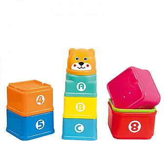 Intellectual Fun Cartoon Beach Stack Cup Quentin And Quadrilateral Bathing Toy