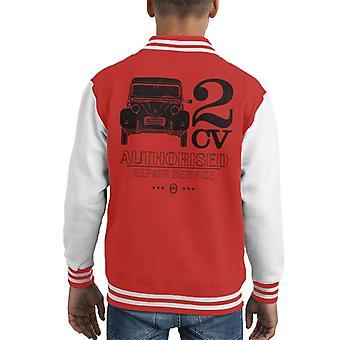 Citroen 2CV Auktoriserad reparationstjänst Svart Logotyp Kid's Varsity Jacka