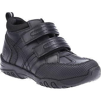 Hush puppies kid's jezza senior school boot black 32586