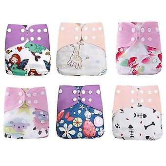 Washable Cloth Diaper Cover Adjustable Nappy Reusable Cloth Diapers