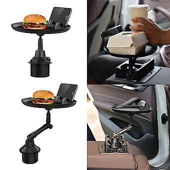 Short car tray food drink cup coffee table stand mount holder dinner plate zf1166
