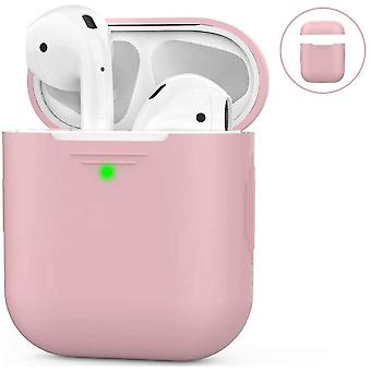 Airpods Silicone Case Compatible With Apple Airpods 2 & 1(Pink)
