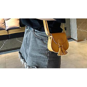 Small Pu Leather With Tassel Cross-over Bag