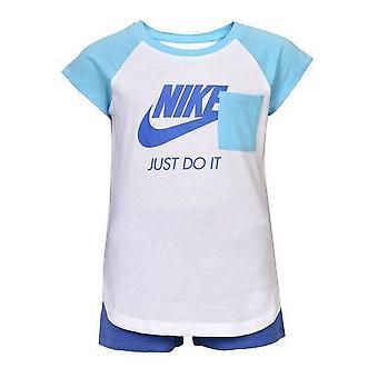 الزي الرياضي للطفل 919-B9A نايكي الأبيض