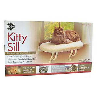 """K&H Pet Products Kitty Window Sill Bed (Unheated) - 24"""" Long x 14"""" Wide"""