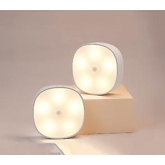 2-piece Set Of Led Rechargeable Magnetic Internal Motion Detection Lights