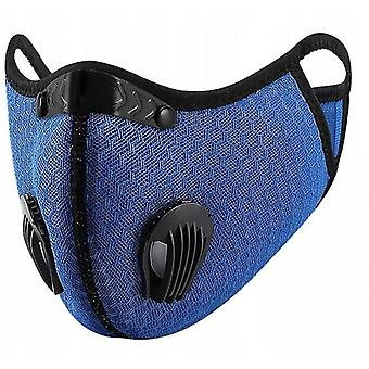 Outdoor Dust-proof And Fog-proof Riding Mask With Replaceable Filter Element (blue)