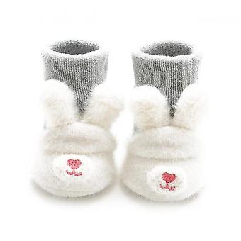 Toddler Boys Girls Knitted Cartoon Anti-skid Baby Booties Sock Slippers