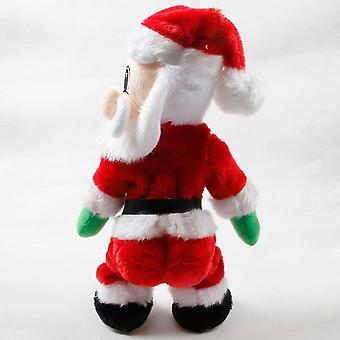 Рождественская вечеринка Украшение Электрический Санта Клаус Поет Танцевальная кукла Подарки Игрушки