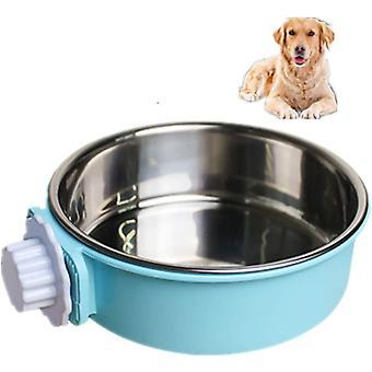 2 בקערות כלב קערת כלבים עם קערת מים לכלבים עם פלדת אל-חלד