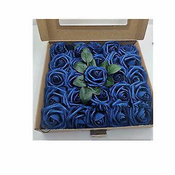 50 Rose in scatola Simulazione Rose Confezione regalo Matrimonio Regalo di San Valentino della mamma, Royal Blue