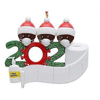 DIY名の祝福PVCマスク雪だるまクリスマスツリーペンダントクリスマスオーナントクリスマス小さなペンダントクリスマスサバイバー