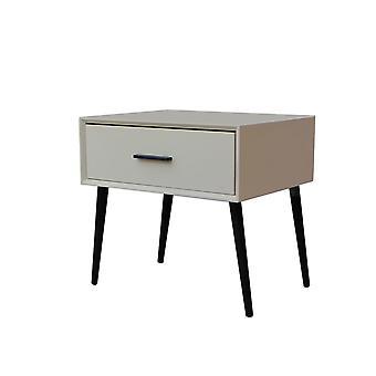 Table de nuit du milieu du siècle, stand de nuit en bois moderne pour salon ou chambre à coucher, table d'extrémité avec 1 tiroir.