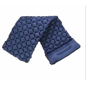 Coussin gonflable portable extérieur, Tapis de camping résistant à l'humidité, Tapis de pique-nique, Convient pour le camping, les voyages, la randonnée (bleu foncé)