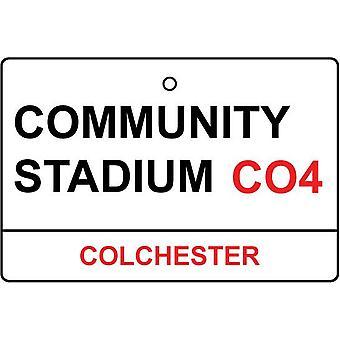 Colchester / Community Stadium Street Sign Auto-Lufterfrischer