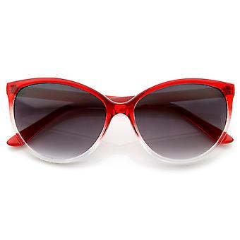 Translucent Fade Color Womens Fashion Cat Eye Sunglasses