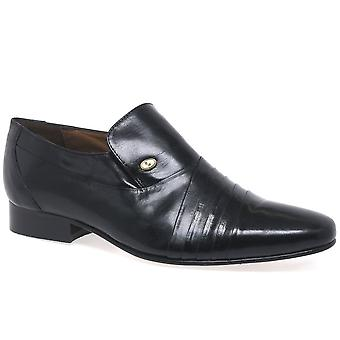 Rombah Wallace Warwick Black Leather Formal Slip On