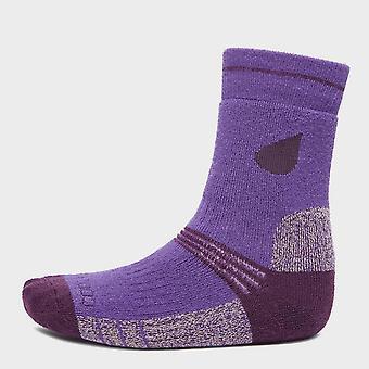 Nou Peter Storm fata ' s midweight Trekking șosete (2 Pack) Purple