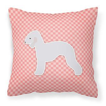 الكلب بيدلينجتون رقعة الداما النسيج الوردي ديكور وسادة