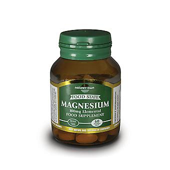 Natures Own Food State Magnesium Elemental 100mg, 60 tablets