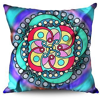 Mandala Spiral Linen Cushion 30cm x 30cm | Wellcoda