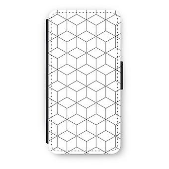 iPhone 6/6s Flip Case - Cubes black and white