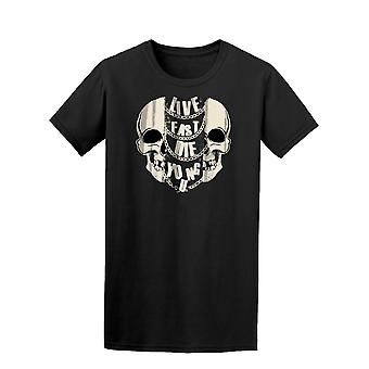 Live Fast Die Young Skull Design Tee Men's -Image by Shutterstock
