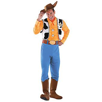 Woody Deluxe xerife Disney Pixar Toy Story cowboy ocidental Mens costume XL