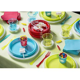 Party tableware set for 18 guests 298-teilig party package spring colors party package