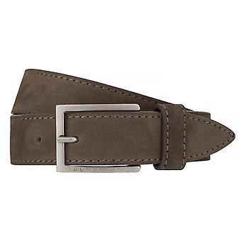 Ceintures pour hommes ceintures BALDESSARINI ceinture en cuir en cuir gris anthracite/6514
