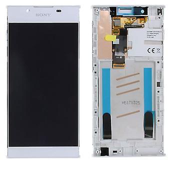 Sony Display LCD Komplett Einheit mit Rahmen für Xperia L1 G3311 G3312 G3313 Weiß Ersatzteil