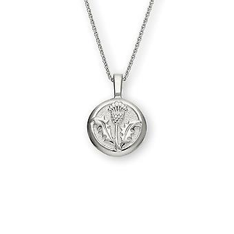 Sterling Silver Traditional Scottish Thistle Hand Crafted Necklace Pendant - P594