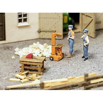 NOTSCH 3D-Minis 0013726 H0 Holzspalter, Kreissäge