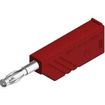 SKS Hirschmann LAS N WS lame branchez, tout droit Pin diamètre: 4 mm rouge 1 PC (s)