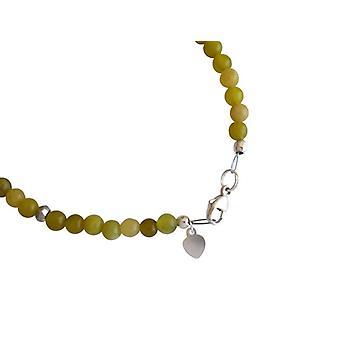 Pulseiras pulseira jade jade pulseira pulseira de pedras preciosas de pirita prata 925
